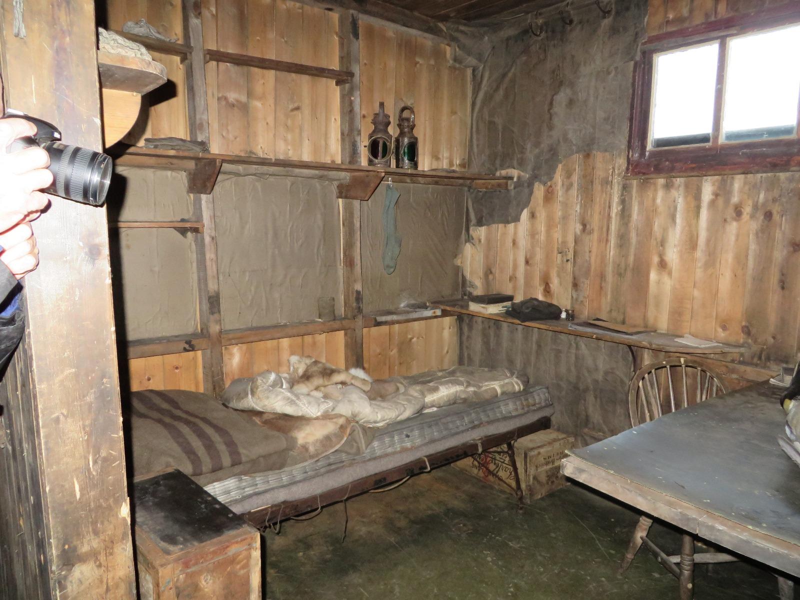Scott's bunk in his hut at Cape Evans