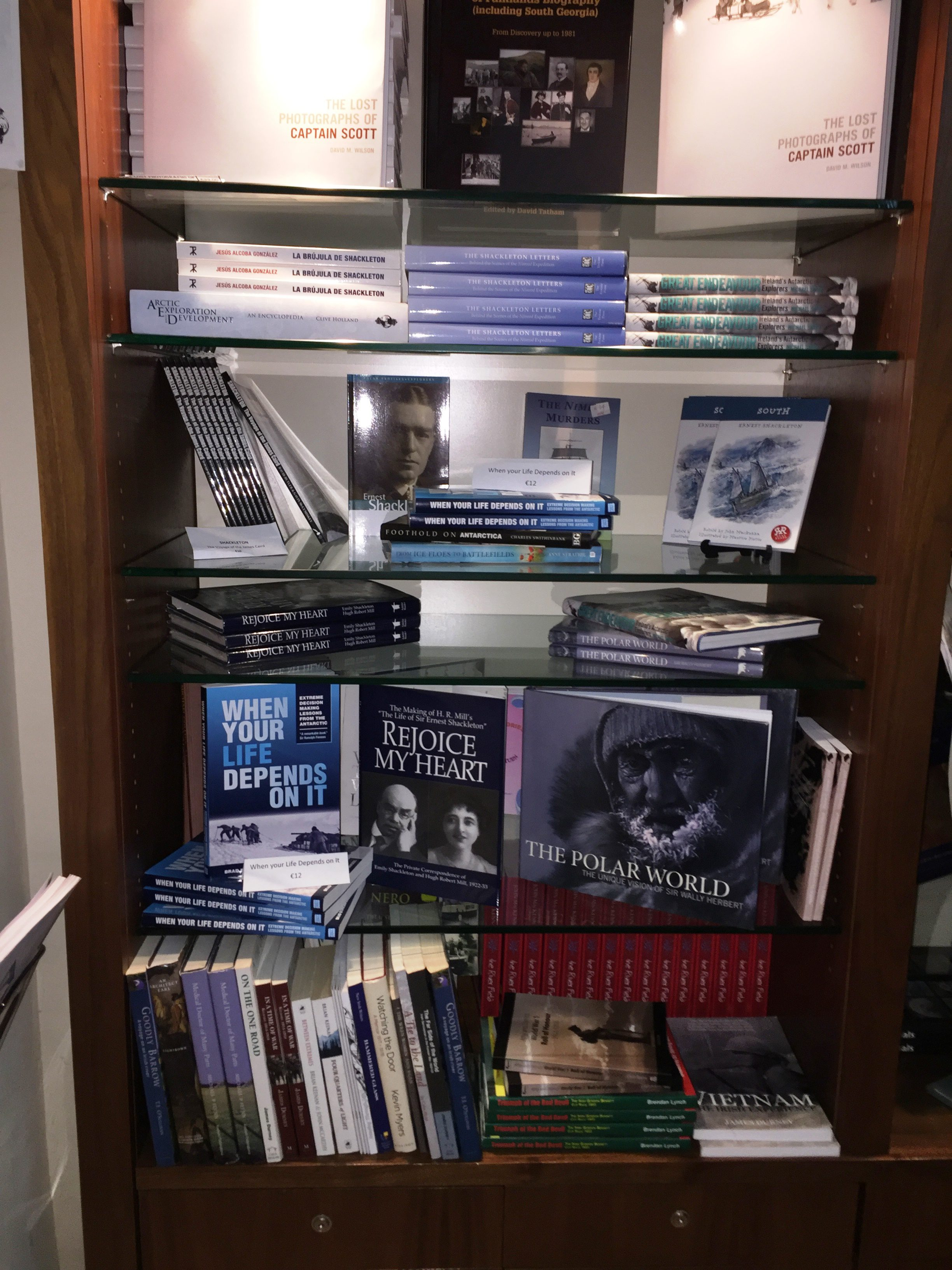 Book on display at the Shackleton Museum in Athy Ireland