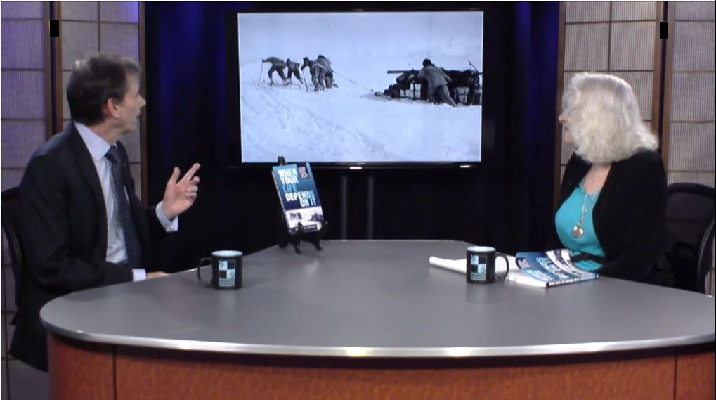 TV interview: Brad talking with Dr. Joan Goldstein