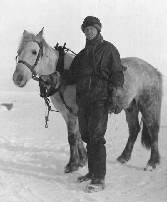 Dr. Edward Wilson with Siberian Pony